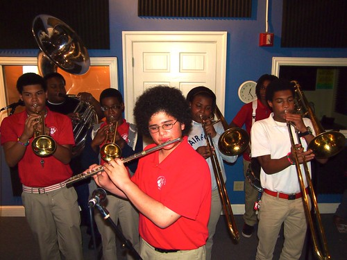 Red Wolf Brass Band performing on Cuttin' Class