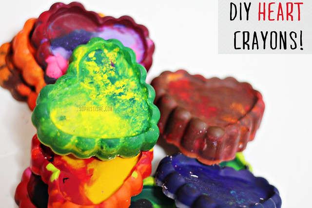 DIY Heart Crayons!
