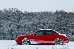 Ma JAGUAR X-Type dans la neige