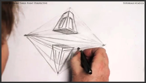 learn how to draw three point perspective 012