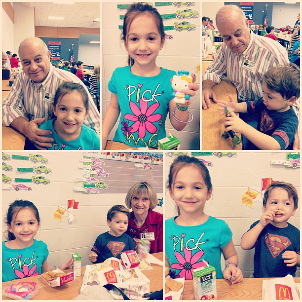 Lunch with Geddo & Teta at Emma's school!