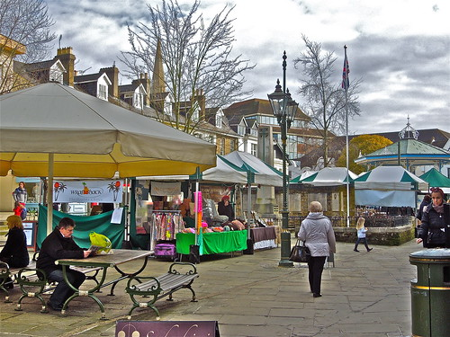Saturday Market, Horsham by Irene.B.