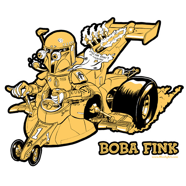 Boba Fink Yellow Tee