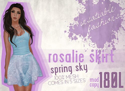 [IF] Rosalie Skirt - [Spring Sky] Ad