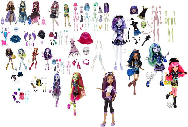 Monster High 13 Wishes Dolls