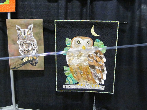 """Nite Owl by Sharon Hightower of Claremont, CA and ""Hoot Are You, Hoot, Hoot"" by Sherry Glidden of Ladera Ranch"