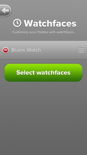Pebble iOS App, add watchfaces !