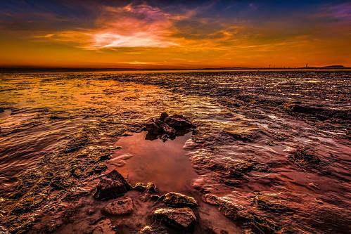 [フリー画像素材] 自然風景, 朝焼け・夕焼け, ビーチ・海岸 ID:201302240600