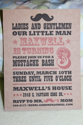 Max's birthday invites
