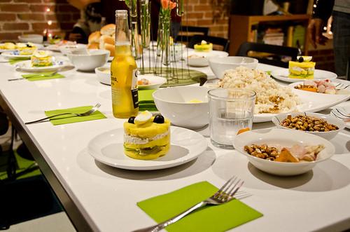 Peruvian Dinner - the set table