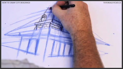 learn how to draw city buildings 012