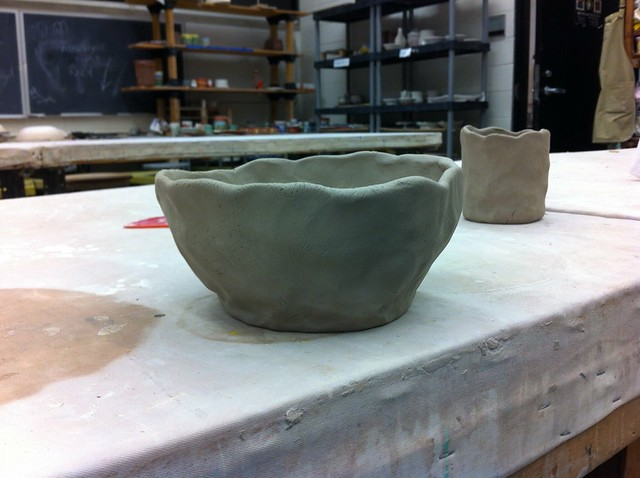Teabowl in progress side