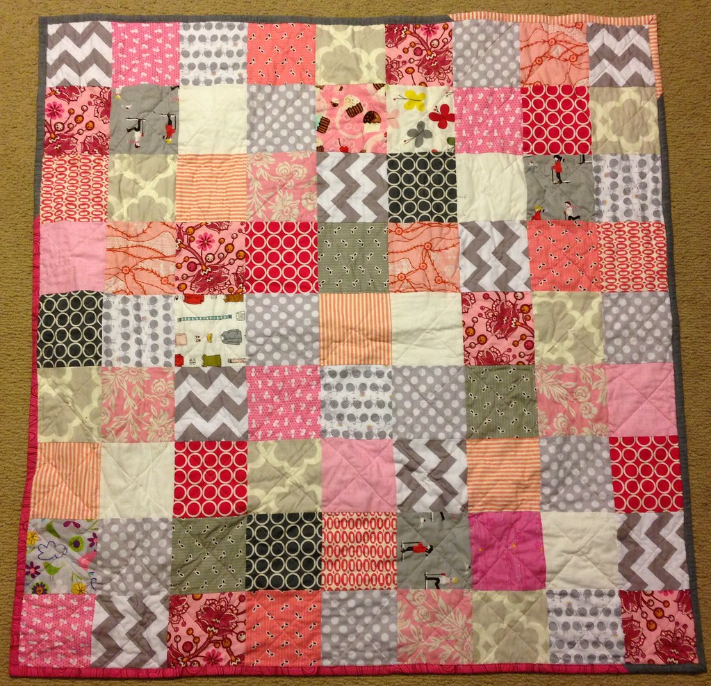 baby girl quilt.