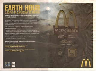 McDonald's Earth Hour Tray Paper