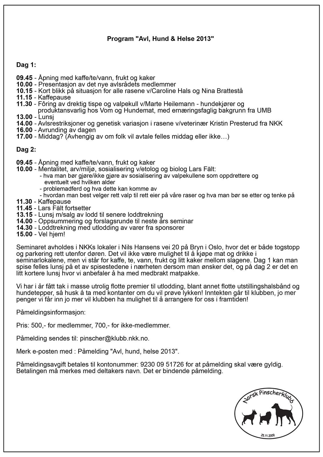 """Velkommen til NPK seminaret  """"Avl, hund, helse"""" 13. og 14.april 2013 8508605158_f0a797dbdb_h"""