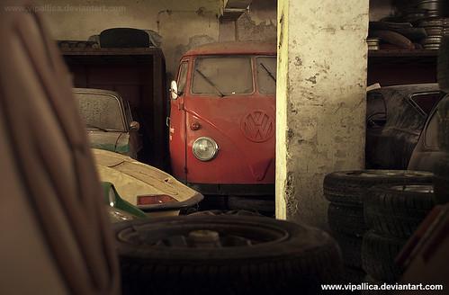 VW Feuerwehr Bus and Opel GT