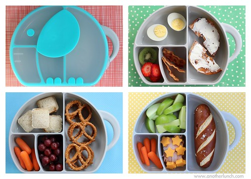 Boon Elephant Trunk Snack Box lunch collage