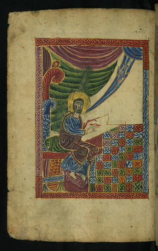 Gospel Book, Evangelist portrait of St. Luke, Walters Manuscript W.540, fol. 125v by Walters Art Museum Illuminated Manuscripts