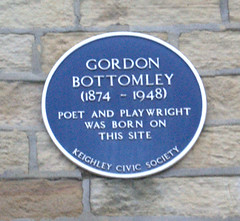 Photo of Gordon Bottomley blue plaque