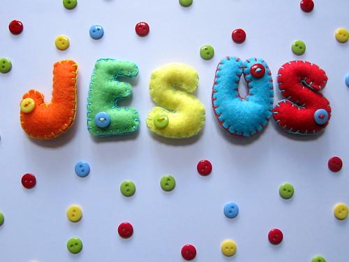 Nombre Fieltro - Jesús - ChikiPol