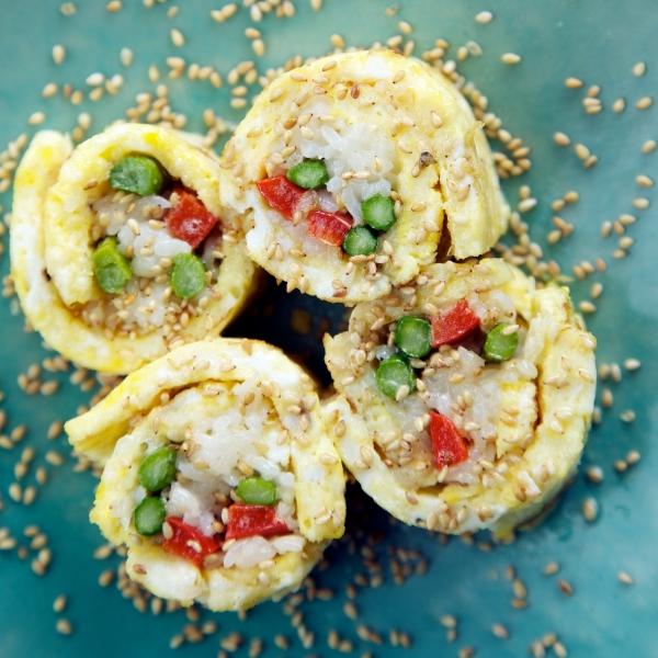 Breakfast Sushi Rolls