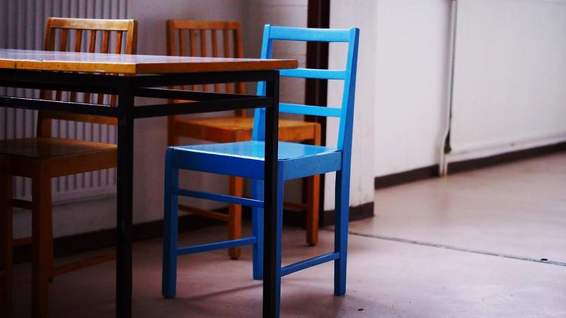 sininen tuoli