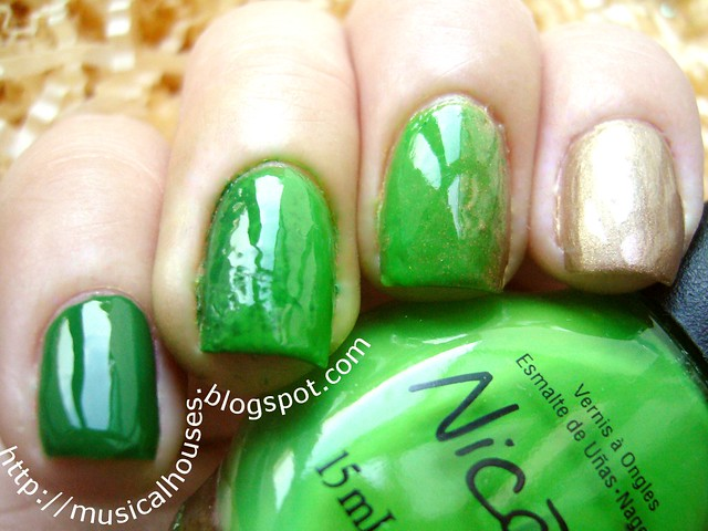 st patricks day gradient mancure 2