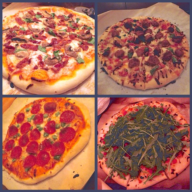 Pizzas 1-4