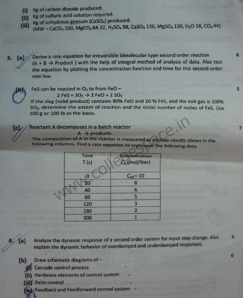 NSIT Question Papers 2011 – 5 Semester - End Sem - BT-305