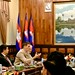 Talk at the ministry of education in Phnom Penh, Cambodia