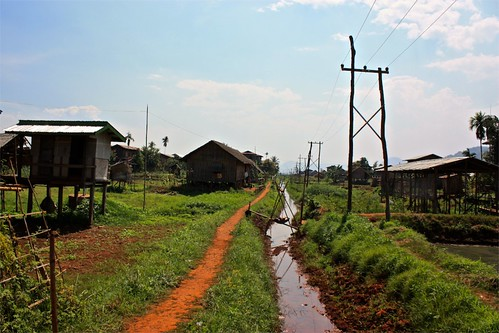 natural irrigation stemming from Inle Lake