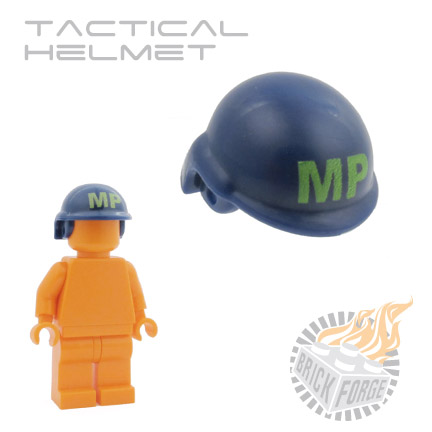 Tactical Helmet - Dark Blue (lime MP print)