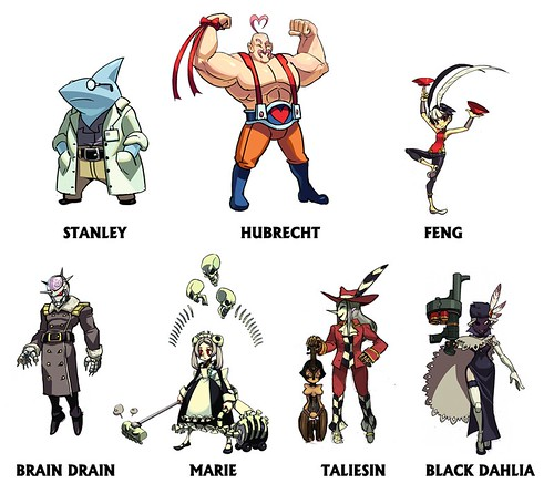 Skullgirls DLC lineup options
