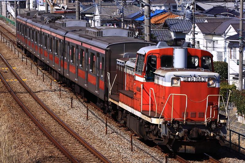 DE10 1663+Tokyu series5050