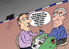 binary options news cartoon chavez dead djia record high