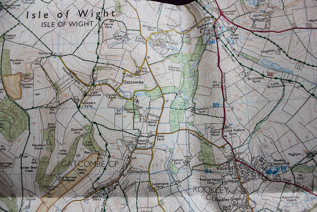 Mapa OL29 Isle of Wight