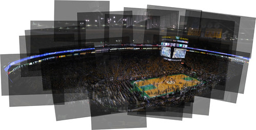 TD Bank North Garden Panography Nuggets at Celtics