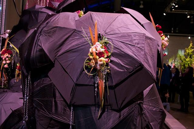 A Bouquet on an Umbrella