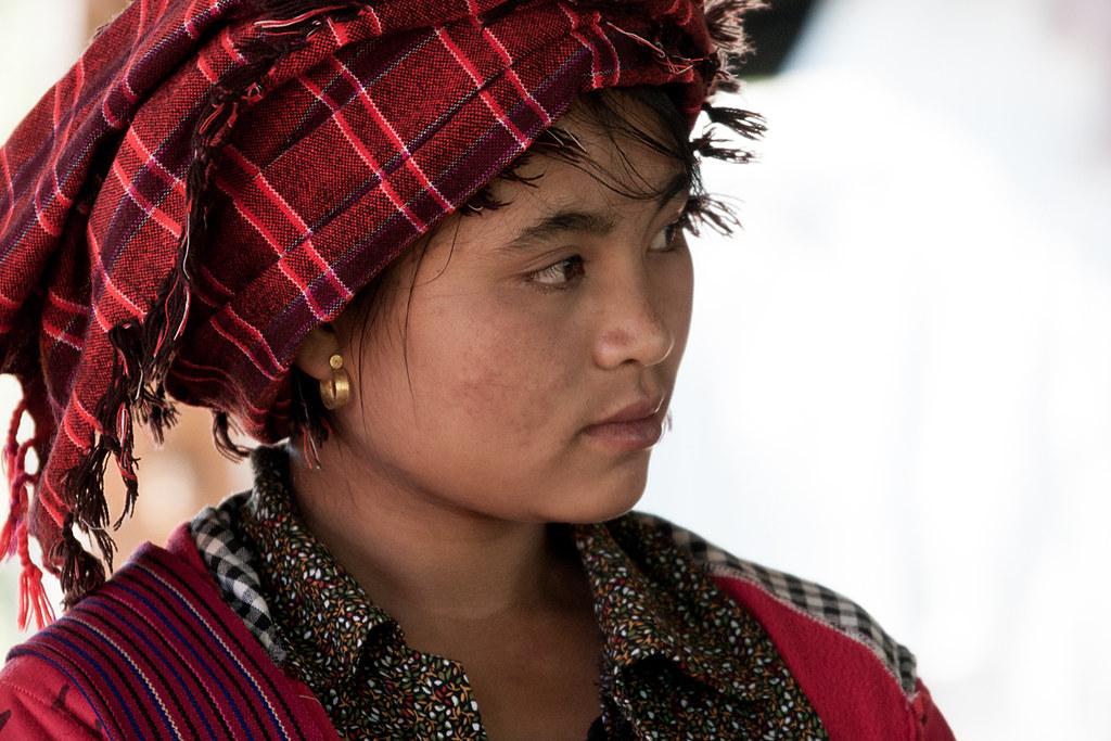 Portrait, Pa'O (Pa-Oh) ethnic group, Shan State, Myanmar (Burma, Birmanie)