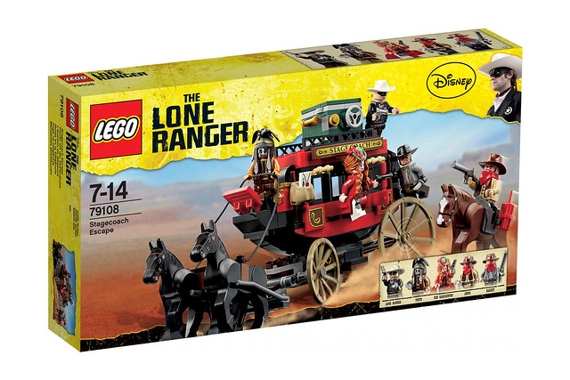 LEGO The Lone Ranger 79108 - Stagecoach Escape - BoxArt