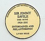 Photo of Jimmy Savile gold plaque