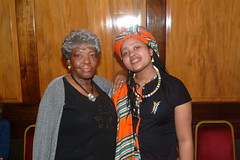 DSCF3550 SA Freedom Day - South Africa High Commission April 2005 With Thandi Klaasen RIP and Vuvu