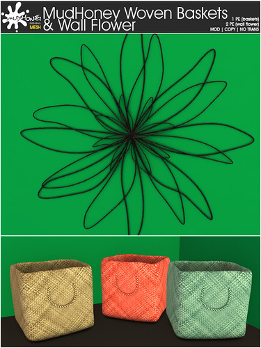 MudHoney Woven Baskets & Wallflower