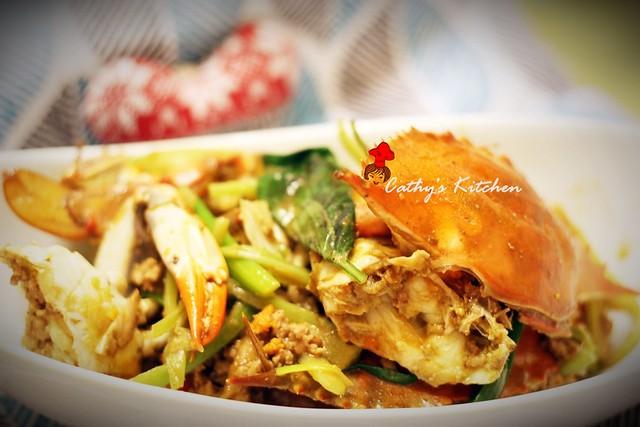 台式肉末快炒螃蟹 Crab with Minced Pork 2