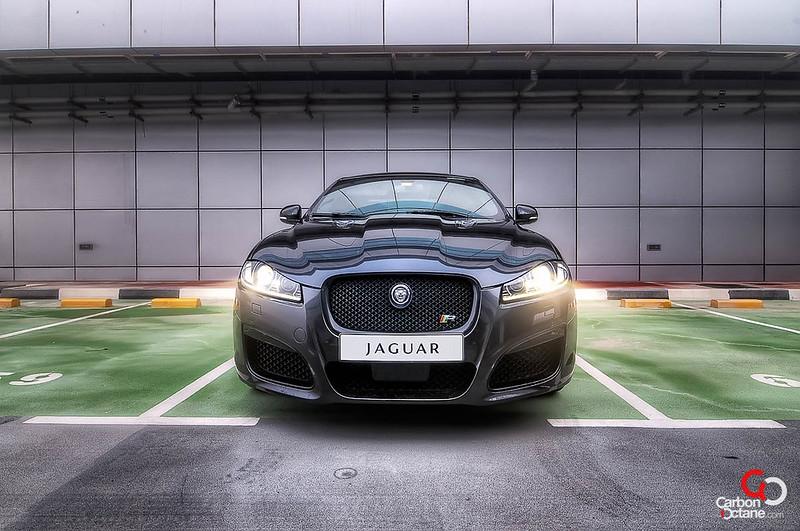 2013 Jaguar XFR front mist.jpg
