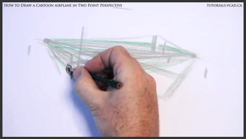 learn how to draw a cartoon airplane in two point perspective 009