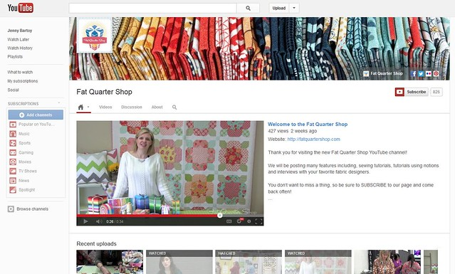 Fat Quarter Shop youtube