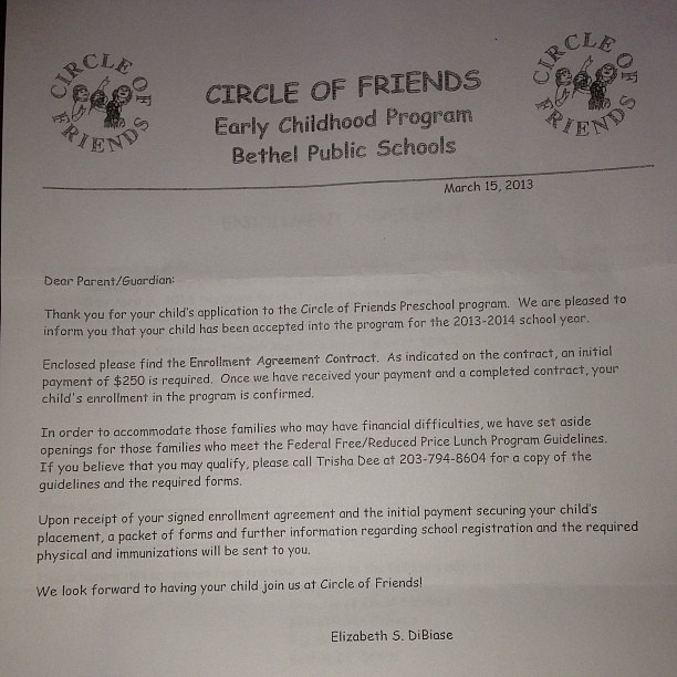 Yay Lexis Preschool Acceptance Letter Finally Came