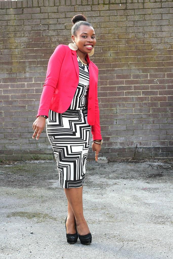 monochrome trend, midi length dress, how to wear midi length dress