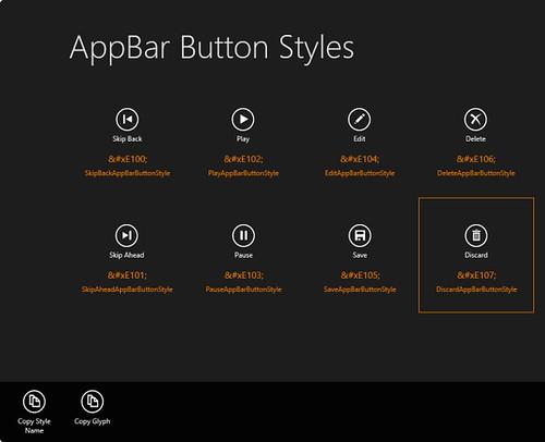 AppBar Button Styles